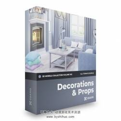 Decorations 3D Models Collection – Volume 103 含多种格式